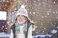 雪の日の女の子