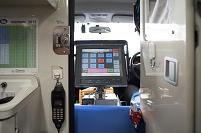 消防士の仕事 救急車両の情報機器