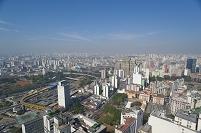 ブラジル 高層ビルよりサンパウロ市街の眺望