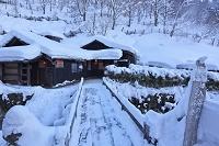 秋田県 冬の鶴の湯温泉