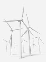 風力発電のモノクロ