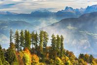 イタリア 秋の山並み