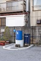 雨水利用の貯水タンク
