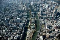 大阪中央公会堂 大阪市役所周辺より中之島地区全景