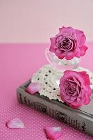 バラと日記帳