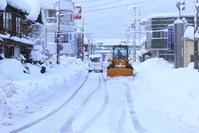 京都府 雪の宮津市 宮津駅ロータリー付近からの眺め