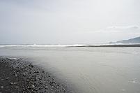安倍川 河口に形成された砂州
