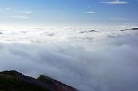 長野県 朝の八方尾根からの雲海