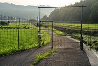広島県 防獣柵の扉