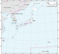 日本 白地図