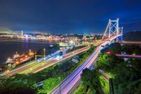 福岡県 関門橋と下関の夜景