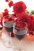 カーネーションとワイン