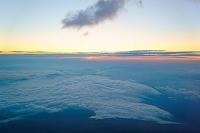 山梨県 富士山頂上からの雲海とご来光