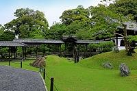 京都府 高台寺 屋根付き廊と観月台と開山堂