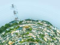 湾曲する住宅街