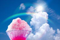 空と虹とかき氷