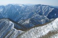 三重県 藤原岳からの山陵