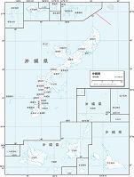 沖縄県 白地図