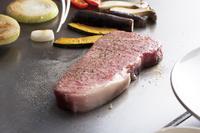 鉄板でのコース料理