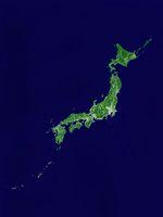 日本列島衛星画像 境界線あり