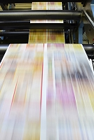工場 輪転印刷機