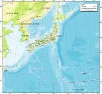 日本 地勢図