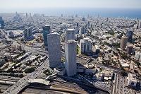 イスラエル テルアビブ ビル街 空撮