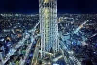 東京都 スカイツリーイーストタワー30F展望台から見た東京スカイ...