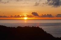 東京都 小笠原諸島の父島 中山峠から夕日