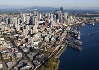 アメリカ シアトルの空撮