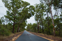 オーストラリア パース 一本の道