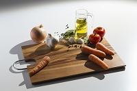 野菜とスパイスとカッティングボード