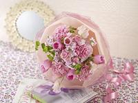 春 花束 ピンク チューリップ スイートピー