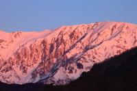 長野県 白馬村 雪の山々