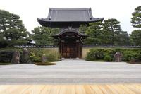 京都府 建仁寺 方丈から見る大雄苑と法堂