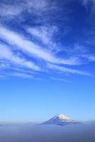 神奈川県 箱根大観山 夜明けの富士山と雲海