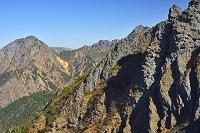 山梨県 八ケ岳 ギボシ峰(右)と阿弥陀岳(左の山)