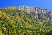 岐阜県 林道から西穂高岳