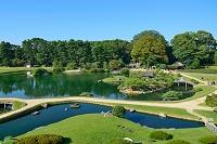 岡山後楽園 沢の池 唯心山からの展望