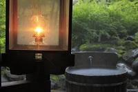 ランプの宿、青荷温泉の子宝の湯とランプ
