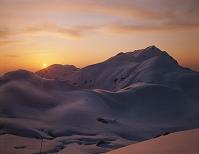 奥大日岳の夕日