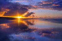 イギリス 海に映る夕日