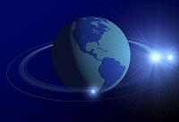 地球儀と光