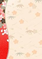 松竹梅に桜
