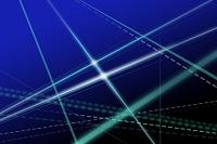 交差する直線と点線 CG