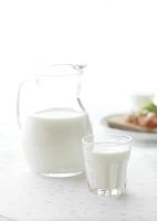 牛乳のある朝食
