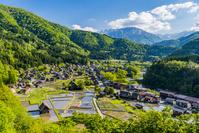 岐阜県 城山展望台から見た白川郷