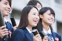 卒業式での高校生イメージ