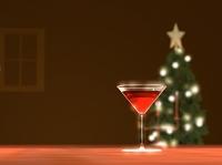クリスマスのカクテルグラス