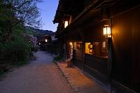 長野県 妻籠宿の夕景
